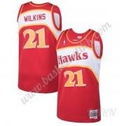 Barn Basketball Drakter Atlanta Hawks 1986-87 Dominique Wilkins 21# Rød Hardwood Classics Swingman D..
