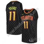 Barn Basketball Drakter Atlanta Hawks 2019-20 Trae Young 11# Svart Icon Edition Swingman Drakt..