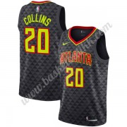 Atlanta Hawks NBA Basketball Drakter 2019-20 John Collins 20# Svart Icon Edition Swingman Drakt..