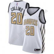 Atlanta Hawks NBA Basketball Drakter 2019-20 John Collins 20# Hvit City Edition Swingman Drakt..
