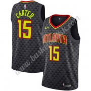 Atlanta Hawks NBA Basketball Drakter 2019-20 Vince Carter 15# Svart Icon Edition Swingman Drakt..