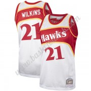 Atlanta Hawks NBA Basketball Drakter Dominique Wilkins 21# Platinum Hardwood Classics Swingman Drakt..