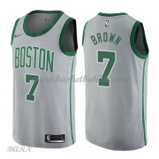 Barn Basketball Drakter Boston Celtics 2018 Jaylen Brown 7# City Edition Swingman..