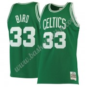 Boston Celtics NBA Basketball Drakter 1985-86 Larry Bird 33# Grønn Hardwood Classics Swingman Drakt..