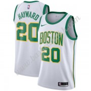 Boston Celtics NBA Basketball Drakter 2019-20 Gordon Hayward 20# Hvit City Edition Swingman Drakt..