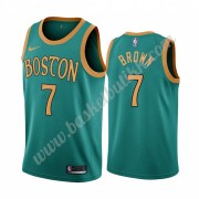 Boston Celtics NBA Basketball Drakter 2019-20 Jaylen Brown 7# Grønn City Edition Swingman Drakt..