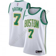 Boston Celtics NBA Basketball Drakter 2019-20 Jaylen Brown 7# Hvit City Edition Swingman Drakt..