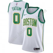 Boston Celtics NBA Basketball Drakter 2019-20 Jayson Tatum 0# Hvit City Edition Swingman Drakt..