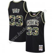 Boston Celtics NBA Basketball Drakter Larry Bird 33# Svart Straight Fire Camo Swingman Drakt..