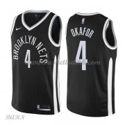 Barn Basketball Drakter Brooklyn Nets 2018 Jahlil Okafor 4# City Edition Swingman..