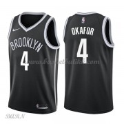 Barn Basketball Drakter Brooklyn Nets 2018 Jahlil Okafor 4# Icon Edition Swingman..