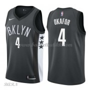 Barn Basketball Drakter Brooklyn Nets 2018 Jahlil Okafor 4# Statement Edition Swingman..