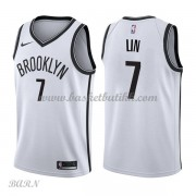 Barn Basketball Drakter Brooklyn Nets 2018 Jeremy Lin 7# Association Edition Swingman..