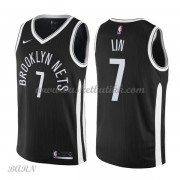 Barn Basketball Drakter Brooklyn Nets 2018 Jeremy Lin 7# City Edition Swingman..