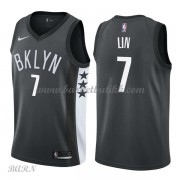 Barn Basketball Drakter Brooklyn Nets 2018 Jeremy Lin 7# Statement Edition Swingman..
