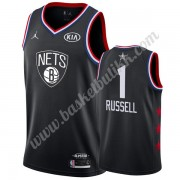 Brooklyn Nets 2019 Dangelo Russell 1# Svart All Star Game NBA Basketball Drakter Swingman..