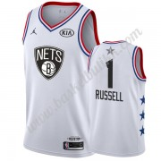 Brooklyn Nets 2019 Dangelo Russell 1# Hvit All Star Game NBA Basketball Drakter Swingman..