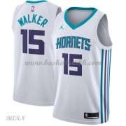 Barn Basketball Drakter Charlotte Hornets 2018 Kemba Walker 15# Association Edition Swingman..