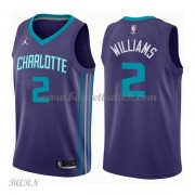 Barn Basketball Drakter Charlotte Hornets 2018 Marvin Williams 2# Statement Edition Swingman..