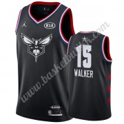 Charlotte Hornets 2019 Kemba Walker 15# Svart All Star Game NBA Basketball Drakter Swingman..