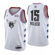 Charlotte Hornets 2019 Kemba Walker 15# Hvit All Star Game NBA Basketball Drakter Swingman..