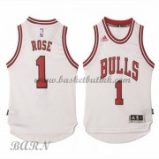 Barn Basketball Drakter Chicago Bulls 2015-16 Derrick Rose 1# Hjemme..