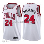 Barn Basketball Drakter Chicago Bulls 2018 Lauri Markkanen 24# Association Edition Swingman..