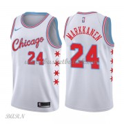 Barn Basketball Drakter Chicago Bulls 2018 Lauri Markkanen 24# City Edition Swingman..