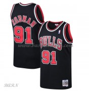 Barn Basketball Drakter Chicago Bulls Kids 1997-98 Dennis Rodman 91# Black Hardwood Classics Swingma..