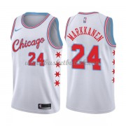 Chicago Bulls NBA Basketball Drakter 2018 Lauri Markkanen 24# City Edition..