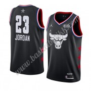 Chicago Bulls 2019 Michael Jordan 23# Svart All Star Game NBA Basketball Drakter Swingman..