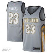 Barn Basketball Drakter Cleveland Cavaliers 2018 LeBron James 23# City Edition Swingman..