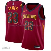 Barn Basketball Drakter Cleveland Cavaliers 2018 LeBron James 23# Icon Edition Swingman..