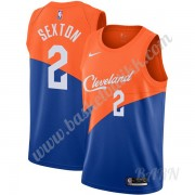 Barn Basketball Drakter Cleveland Cavaliers 2019-20 Collin Sexton 2# Blå City Edition Swingman Drakt..