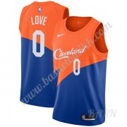 Barn Basketball Drakter Cleveland Cavaliers 2019-20 Kevin Love 0# Blå City Edition Swingman Drakt..