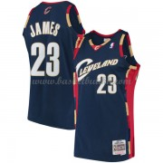 Cleveland Cavaliers Mens 2008-09 LeBron James 23# Navy Hardwood Classics..