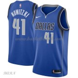Barn Basketball Drakter Dallas Mavericks 2018 Dirk Nowitzki 41# Icon Edition Swingman
