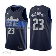 Barn Basketball Drakter Dallas Mavericks 2018 Wesley Matthews 23# Statement Edition Swingman..