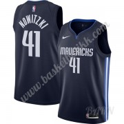 Barn Basketball Drakter Dallas Mavericks 2019-20 Dirk Nowitzki 41# Marinen Finished Statement Edition Swingman Drakt