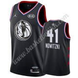 Dallas Mavericks 2019 Dirk Nowitzki 41# Svart All Star Game NBA Basketball Drakter Swingman