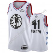 Dallas Mavericks 2019 Dirk Nowitzki 41# Hvit All Star Game NBA Basketball Drakter Swingman..
