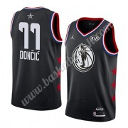 Dallas Mavericks 2019 Luka Doncic 77# Svart All Star Game NBA Basketball Drakter Swingman..