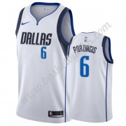 Dallas Mavericks NBA Basketball Drakter 2019-20 Kristaps Porzingis 6# Hvit Association Edition Swing..