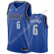 Dallas Mavericks NBA Basketball Drakter 2019-20 Kristaps Porzingis 6# Blå Icon Edition Swingman Drak..