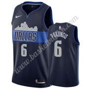 Dallas Mavericks NBA Basketball Drakter 2019-20 Kristaps Porzingis 6# Marinen Statement Edition Swin..