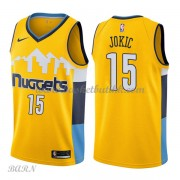Barn Basketball Drakter Denver Nuggets 2018 Nikola Jokic 15# Statement Edition Swingman..