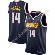 Denver Nuggets NBA Basketball Drakter 2019-20 Gary Harris 14# Marinen Icon Edition Swingman Drakt..