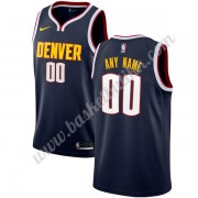 Denver Nuggets NBA Basketball Drakter 2019-20 Marinen Icon Edition Swingman Drakt..
