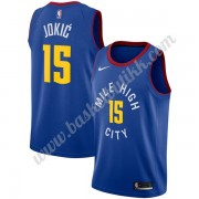 Denver Nuggets NBA Basketball Drakter 2019-20 Nikola Jokic 15# Blå Statement Edition Swingman Drakt..