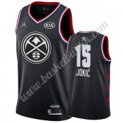 Denver Nuggets 2019 Nikola Jokic 15# Svart All Star Game NBA Basketball Drakter Swingman..